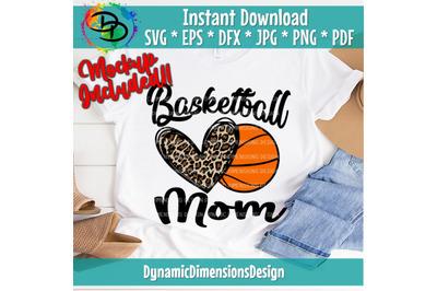 Basketball Mom, Sports Mom Leopard, Basketball Mom Svg, Basketball, Ba