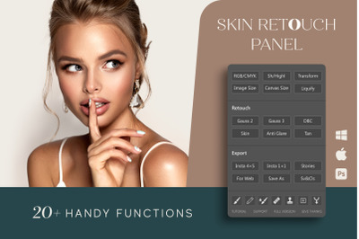 Skin Retouch Panel for Photoshop