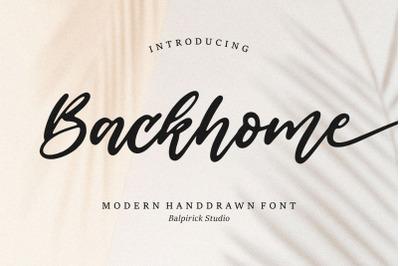 Backhome Modern Handdrawn Font