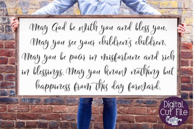 Irish Blessing, Christian Svg, Farmhouse, God Be With You