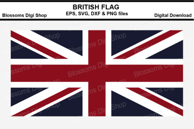 British Flag SVG, EPS, DXF and PNG cut files