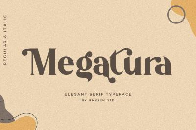 Megatura Elegant Serif Typeface