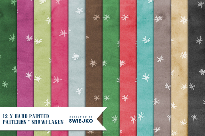 Snowflake Paper set, Christmas background