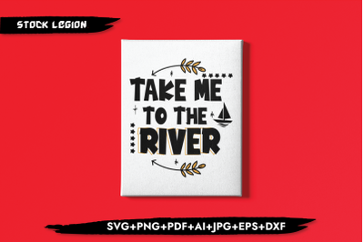 Take Me To The River Arrow SVG