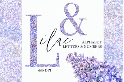 Lilac Floral Alphabet