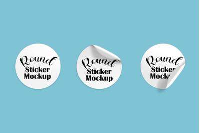 Round Sticker mockup set 1