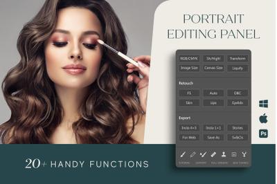 Portrait Editing Panel for Photoshop