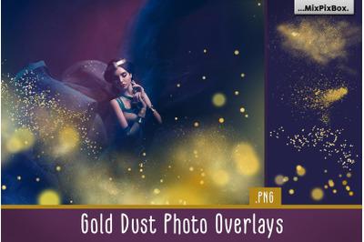 Gold Dust Photo Overlays
