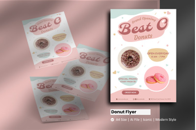Donut Store Flyer Template