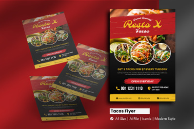 Tacos Grand Opening Flyer Template