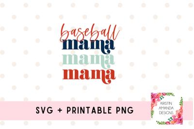 Baseball Mama Baseball Mom SVG Cut File