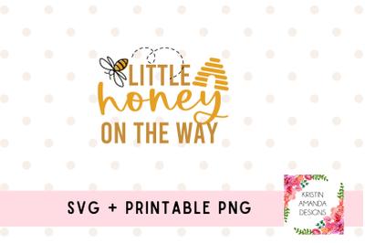 Little Honey on the Way Newborn Bee SVG Cut File