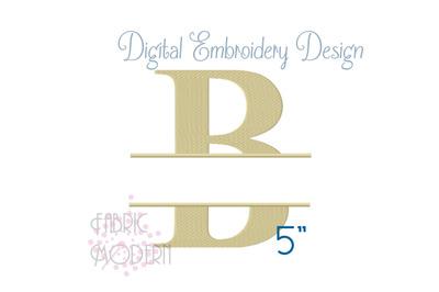 Times SPLIT MONOGRAM Embroidery Font Design 5 inch #1118-5