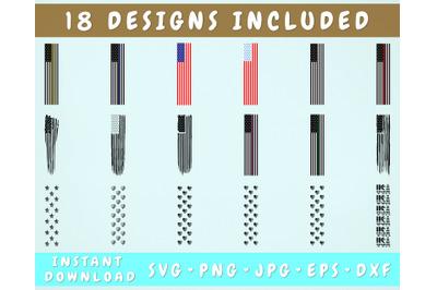 18 Flag Pen Wraps, Flag Pen Wrap SVG Bundle