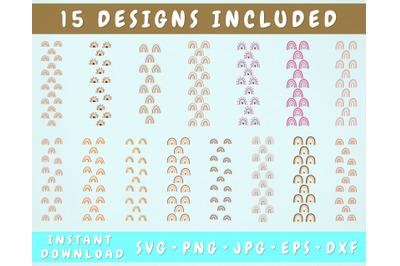 15 Rainbow Pen Wraps, Rainbow Glitter Pen Wrap SVG Bundle