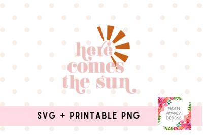 Here Comes the Sun SVG Cut File