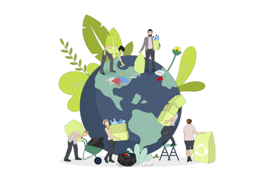 Environment day, collect garbage from planet, protect earth