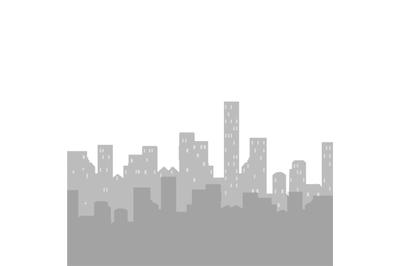 Skyline urban cityscape silhouette skyscrapers, business template