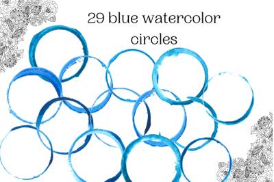 Watercolor circles for logo, Blue circles for logo
