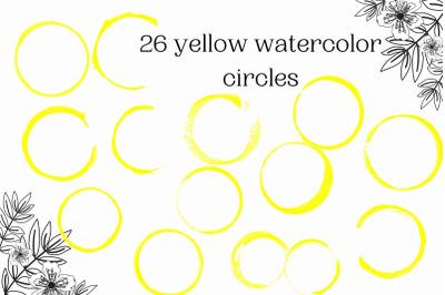 Watercolor circles for logo, Yellow circles for logo,