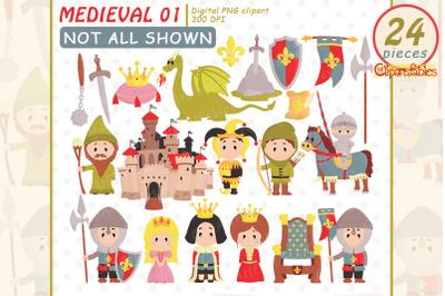 MEDIEVAL clipart, Fairy tale clip art, Arthur clipart