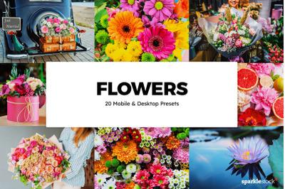 20 Flowers Lightroom Presets & LUTs