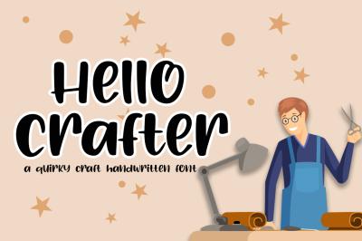 Hello Crafter a Handwritten Craft Font