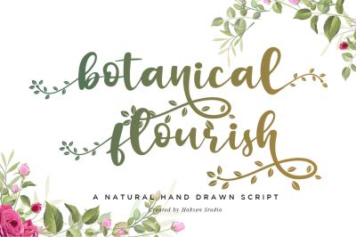 Botanical Flourish a Natural Handwritten Font