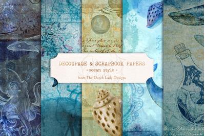 Digital Decoupage & Scrapbook Sheet Set 1