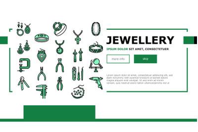 Handmade Jewellery Landing Header Vector
