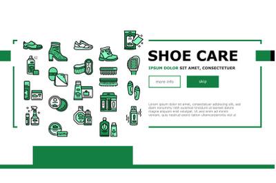 Shoe Care Accessories Landing Header Vector