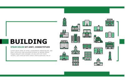 Building Architecture Landing Header Vector