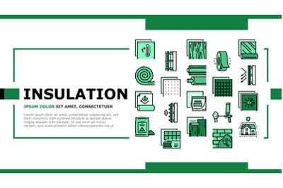 Insulation Building Landing Header Vector