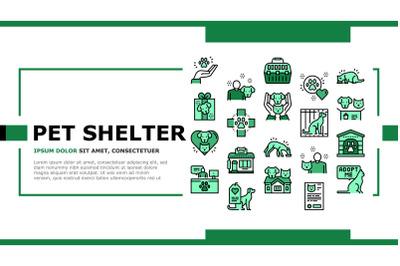 Animal Pet Shelter Landing Header Vector