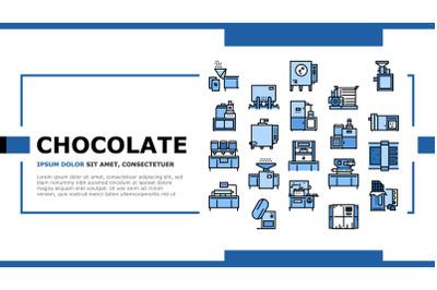 Chocolate Production Landing Header Vector
