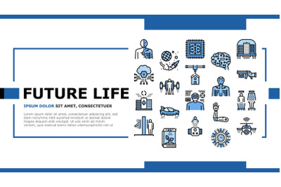 Future Life Devices Landing Header Vector
