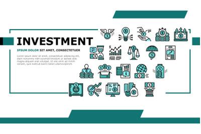 Investment Portfolio Landing Header Vector