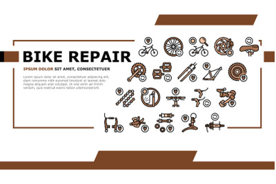 Bike Repair Service Landing Header Vector