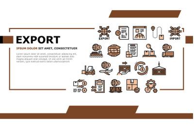 Export Import Logistic Landing Header Vector