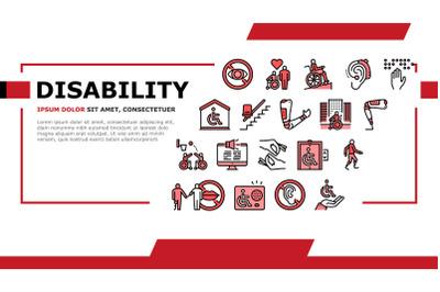 Disability Technology Landing Header Vector