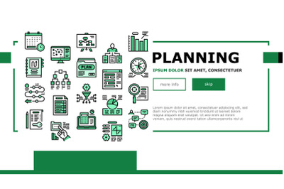 Planning Work Process Landing Header Vector
