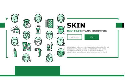 Facial Skin Care Treat Landing Header Vector