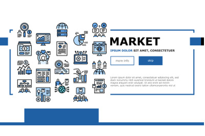 Market Research And Analysis Landing Header Vector