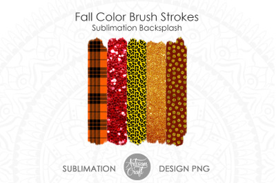 Brush stroke PNG, fall sublimation designs