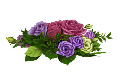Flowers hand painting vector