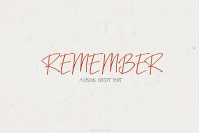Remember A Casual Scrip Font