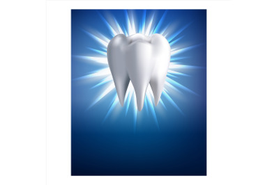 Teeth Whitening Procedure Promotion Poster Vector