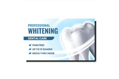 Professional Whitening Promotional Poster Vector