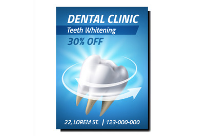 Dental Clinic Creative Promotional Banner Vector