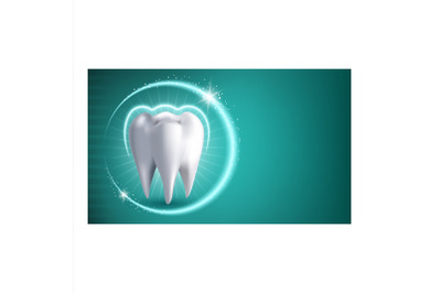 Teeth Whitening Treatment Promotion Banner Vector